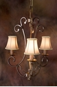 Picture of French Provincial Pendant 3 LT (DO5047/P3/SHADE) MDA Lighting