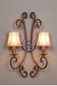 Picture of French Provincial 2 LT Wall Bracket (DO5047/2WB/SHADE) MDA Lighting