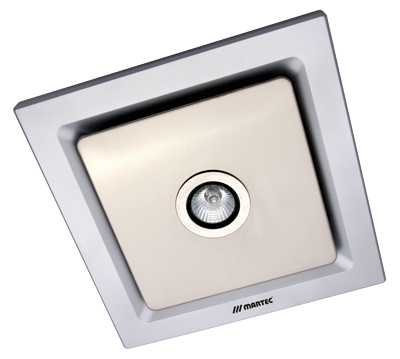 Picture Of Tetra Silver Square Bathroom Exhaust Fan With Light Mxflt25s Martec