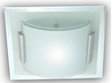 Picture of Square & Curve Glass 2 Light 40CM Square Oyster (AC1135/2/40) Ace Lighting
