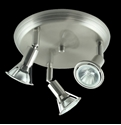Picture of Faretto 3 Light Round Plate Low Voltage Spotlight (LV-4002/3R) Domus Lighting