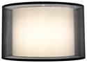 "Picture of Kisa Black 20"" Shade (SH-20-20-12 BK/WH) Oriel Lighting"