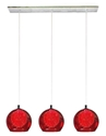 Picture of Meteor 3 Light Bar Pendant in Red (04994B) V & M