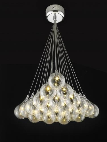 Picture Of Grape 21 Light Glass Led Cluster Pendant Grape 21 Cluster Fiorentino