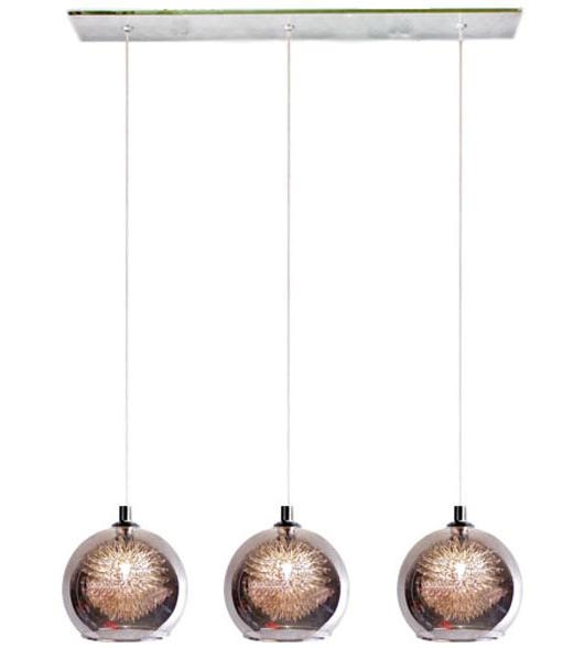 Northern lighting online shop lighting outdoor lighting light picture of meteor 3 light bar pendant in grey chrome 04995b v mozeypictures Images