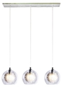 Picture of Meteor 3 Light Bar Pendant in Clear (04993B) V & M