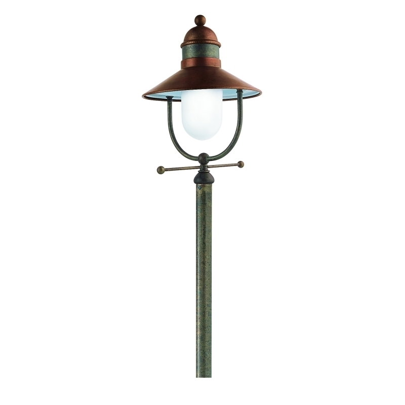 Northern lighting online shop lighting outdoor lighting light picture of il borgo exterior brass copper post light 24432orbt il fanale aloadofball Image collections