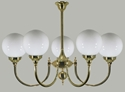 Picture of Kew 5 light Solid Brass Pendant Lode International