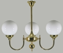 Picture of Kew 3 light Solid Brass Pendant Lode International