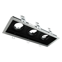 Picture of DSL-101/3B Rectangular Slotter 3 Light Downlight Frame (70005 70006) Domus Lighting