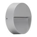 Picture of Zeke-Mini-Round Silver 3W Exterior LED Wall Light (19700 19701) Domus Lighting