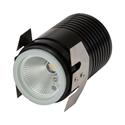 Picture of Deka-Body Round 12V 3W LED Inground Light - Black Body (19458,19459) Domus Lighting