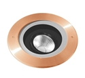 Picture of Altona Copper 12V LED In-ground Adjustable Uplighter (S134C) Seaside Lighting