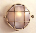 Picture of Scarborough Small Round Solid Brass Bunker (S2028B) Seaside Lighting