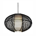 Picture of Tarakan 80CM Black 1 Light Pendant Telbix