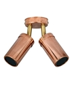 Picture of Exterior Solid Copper 240V Double Adjustable Spot Light (PG2ACEC) CLA Lighting
