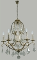 Picture of Angelique 5 Light Crystal Chandelier (Angelique/5Lt) Lighting Inspirations