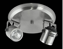 Picture of Barrel 2 Light Round Plate Low Voltage Spotlight (LV-3704/2R) Domus Lighting