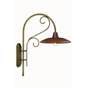 Picture of CASALE Exterior Brass Copper Wall Light (240.05.OR) IL Fanale