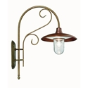 Picture of CASALE Exterior Brass Copper Wall Light (240.25.ORB_T) IL Fanale