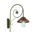 Picture of COLONIALE Exterior Brass Copper Wall Light (241.25.ORB_T) IL Fanale