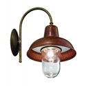 Picture of CONTRADA Exterior Brass Copper Wall Light (243.26.ORB_T) IL Fanale