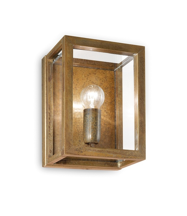 Northern lighting online shop lighting outdoor lighting light picture of quadro exterior brass copper wall light 26201ot il fanale workwithnaturefo