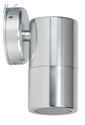 Picture of Exterior Silver Coloured Aluminium 12V Single Fixed Wall Pillar Light With 5W LED Globe (HV1167MR16) Havit Lighting