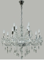 Picture of Venice 12 (8+4) Light Crystal Chandelier (Venice/PD/12Lt) Lighting Inspirations