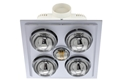 Picture of Lava Quattro LED Bathroom Heater with Exhaust & Light (BS024LSW) Mercator Lighting