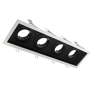 Picture of DSL-101/4B Rectangular Slotter 4 Light Downlight Frame (70007 70008) Domus Lighting