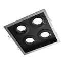Picture of DSL-101/4SQ Square Slotter 4 Light Downlight Frame (70009 70010) Domus Lighting