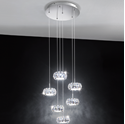 Picture of  Corliano LED 6 Light Round Crystal Pendant (39008) Eglo Lighting