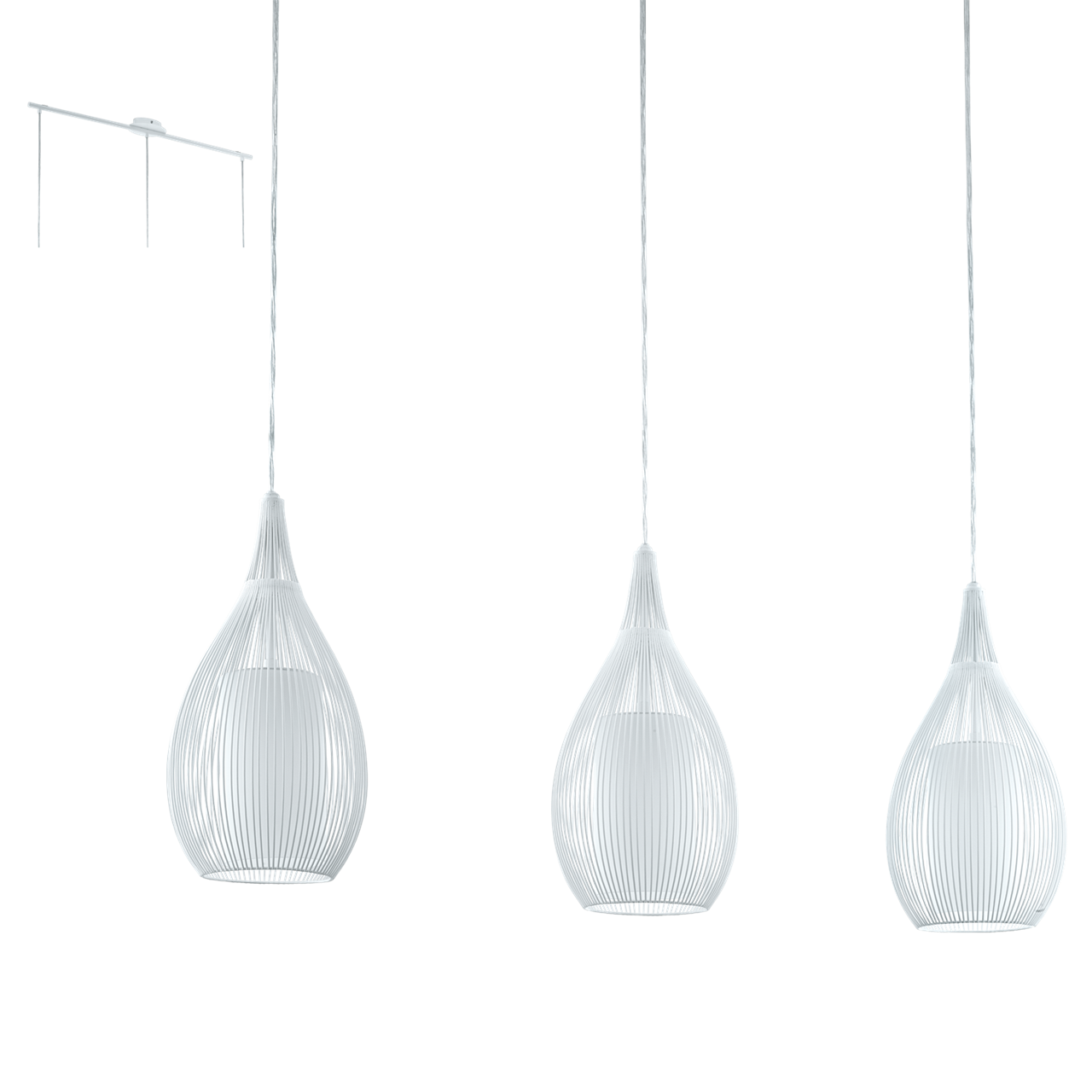 light drop triple image lighting pendant black priddy in eglo