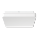 Picture of SUNSET SQUARE 25W 300MM SLIMLINE LED OYSTER IN TRIO TRICOLOUR (20887) Domus Lighting