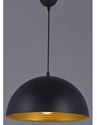 Picture of Shadow Large Black Medal Pendent (H005-LGE) Hermosa Lighting