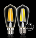 Picture of Filament ST64 8w LED Full Glass Pear Shape Lamps