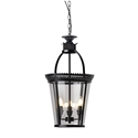 Picture of 3 Lights Round Lantern in Black (PD0113P-3) Robert Kitto