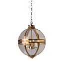 Picture of Ball Shape 4 Lights Lantern in Old Brass (PD0115P-4) Robert Kitto