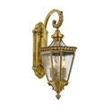 Picture of Scroll Solid Brass 2 Light Exterior Wall Light (Scroll EX25-BRS) Telbix
