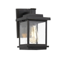 Picture of Strand Black 1 Light Exterior Wall Light (Strand EX-BK) Telbix