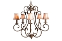 Picture of Jameson 5 Light Pendant With Shades (DO5047/P5/Shade) MDA Lighting