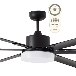 """Picture of Albatross 72"""" or 84"""" DC Industrial Style Ceiling Fan With Tri-Colour 24W LED And Remote Martec"""