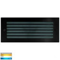 Picture of Bata Exterior Black Recessed Grill Face 10W LED Bricklight (HV3004T-BLK) Havit Lighting