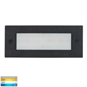 Picture of Bata Exterior Black Recessed Open Face 12V 3W LED Bricklight (HV3007T-BLK-12V) Havit Lighting