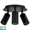 Picture of Exterior Matt Black 3 Light Round (HV4001T-3-BLK-RND) Havit Lighting