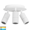 Picture of Exterior Matt White 3 Light Round (HV4001T-3-WHT-RND) Havit Lighting