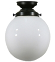 "Picture of  6"" Sphere Patina Black Batten Fix (3020015) Lighting Inspirations"