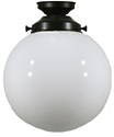 "Picture of  8"" Sphere Patina Black Batten Fix (3020027) Lighting Inspirations"