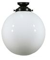 "Picture of  12"" Sphere Patina Black Batten Fix (3020022) Lighting Inspirations"
